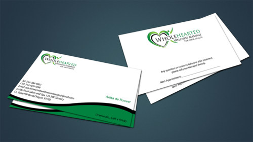 Wholehearted Wellness Massage Business Cards and Stationery  Draft # 143 by jpgart92