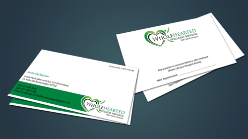 Wholehearted Wellness Massage Business Cards and Stationery  Draft # 144 by jpgart92