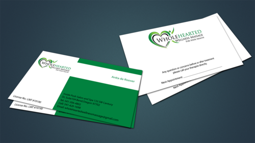 Wholehearted Wellness Massage Business Cards and Stationery  Draft # 145 by jpgart92
