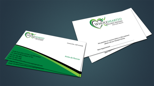Wholehearted Wellness Massage Business Cards and Stationery  Draft # 146 by jpgart92