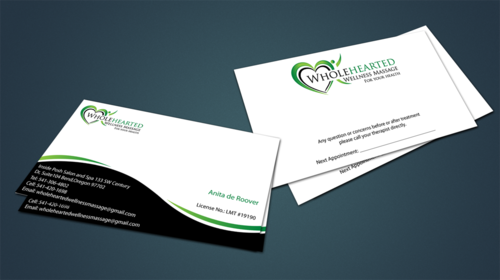 Wholehearted Wellness Massage Business Cards and Stationery  Draft # 147 by jpgart92
