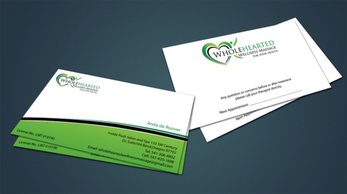 Wholehearted Wellness Massage Business Cards and Stationery  Draft # 148 by jpgart92
