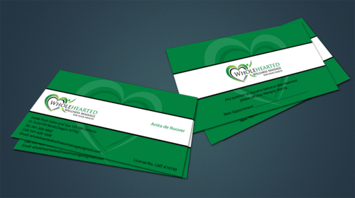 Wholehearted Wellness Massage Business Cards and Stationery  Draft # 149 by jpgart92