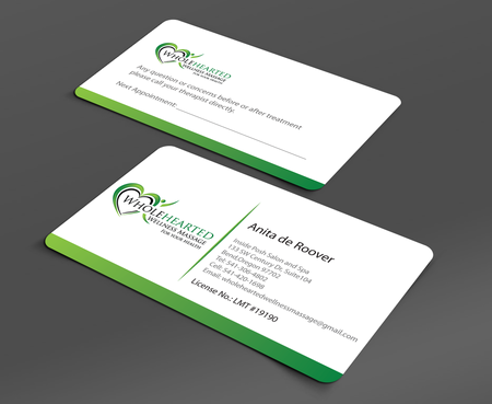 Wholehearted Wellness Massage Business Cards and Stationery  Draft # 150 by jpgart92
