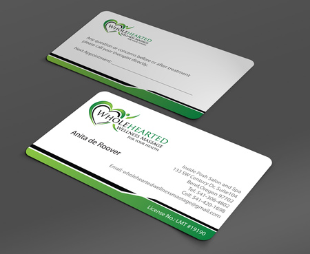 Wholehearted Wellness Massage Business Cards and Stationery  Draft # 151 by jpgart92