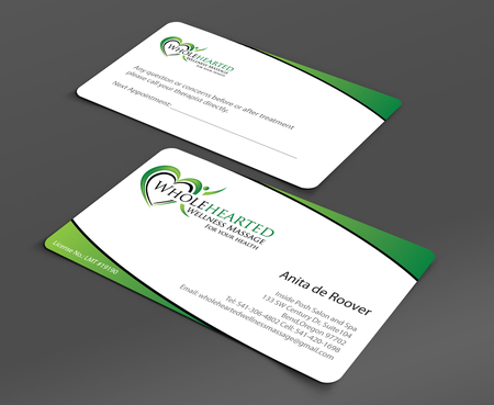 Wholehearted Wellness Massage Business Cards and Stationery  Draft # 152 by jpgart92