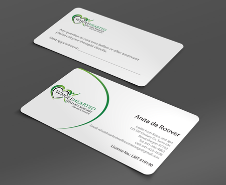 Wholehearted Wellness Massage Business Cards and Stationery  Draft # 153 by jpgart92