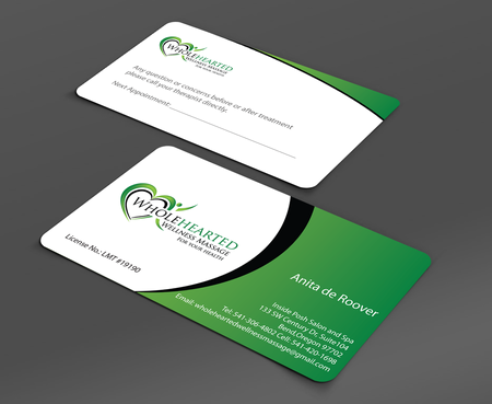 Wholehearted Wellness Massage Business Cards and Stationery  Draft # 154 by jpgart92