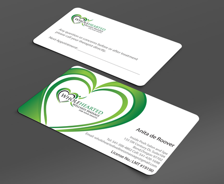 Wholehearted Wellness Massage Business Cards and Stationery  Draft # 155 by jpgart92