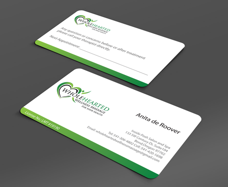 Wholehearted Wellness Massage Business Cards and Stationery  Draft # 157 by jpgart92