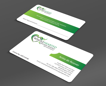 Wholehearted Wellness Massage Business Cards and Stationery  Draft # 158 by jpgart92
