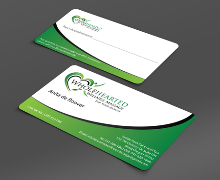 Wholehearted Wellness Massage Business Cards and Stationery  Draft # 159 by jpgart92