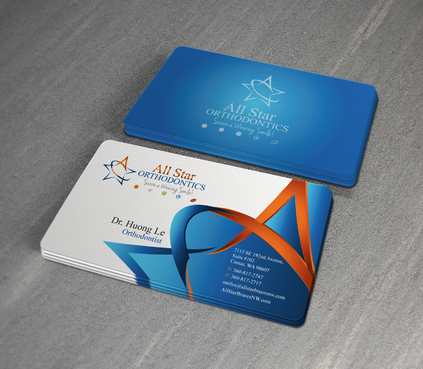All Star Orthodontics Business Cards and Stationery  Draft # 381 by twenty2