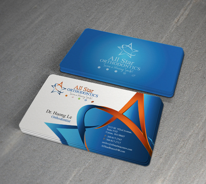 All Star Orthodontics Business Cards and Stationery  Draft # 382 by twenty2