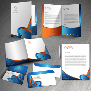 All Star Orthodontics Business Cards and Stationery  Draft # 383 by twenty2