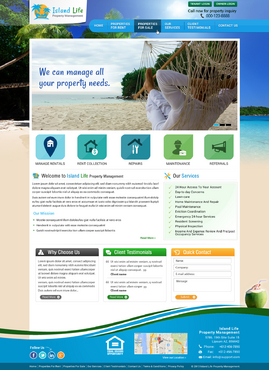 Island Life Property Management Web Design Winning Design by itmech