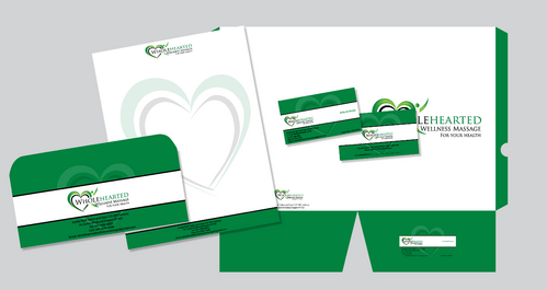 Wholehearted Wellness Massage Business Cards and Stationery  Draft # 174 by jpgart92
