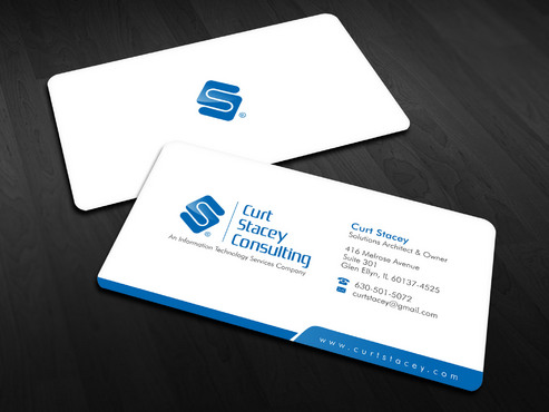 Curt Stacey Consulting, An Information Technology Services Company Business Cards and Stationery  Draft # 4 by Xpert
