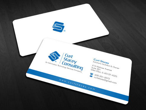 Curt Stacey Consulting, An Information Technology Services Company Business Cards and Stationery  Draft # 5 by Xpert
