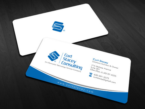 Curt Stacey Consulting, An Information Technology Services Company Business Cards and Stationery  Draft # 6 by Xpert