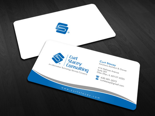 Curt Stacey Consulting, An Information Technology Services Company Business Cards and Stationery  Draft # 7 by Xpert