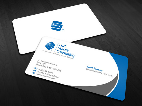 Curt Stacey Consulting, An Information Technology Services Company Business Cards and Stationery  Draft # 8 by Xpert