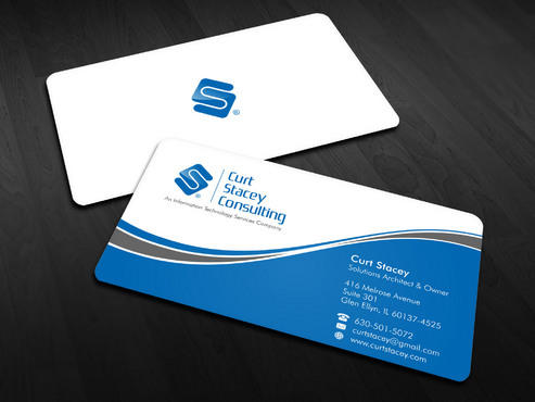 Curt Stacey Consulting, An Information Technology Services Company Business Cards and Stationery  Draft # 9 by Xpert
