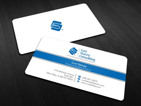 Curt Stacey Consulting, An Information Technology Services Company Business Cards and Stationery  Draft # 13 by Xpert