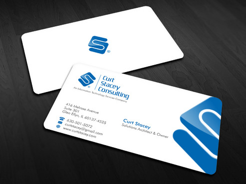 Curt Stacey Consulting, An Information Technology Services Company Business Cards and Stationery  Draft # 14 by Xpert