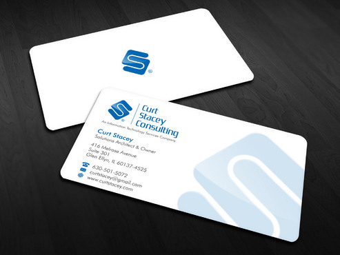 Curt Stacey Consulting, An Information Technology Services Company Business Cards and Stationery  Draft # 16 by Xpert