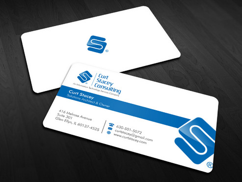 Curt Stacey Consulting, An Information Technology Services Company Business Cards and Stationery  Draft # 15 by Xpert