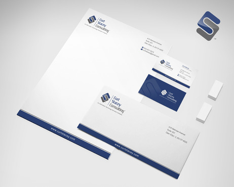 Curt Stacey Consulting, An Information Technology Services Company Business Cards and Stationery  Draft # 154 by sevensky