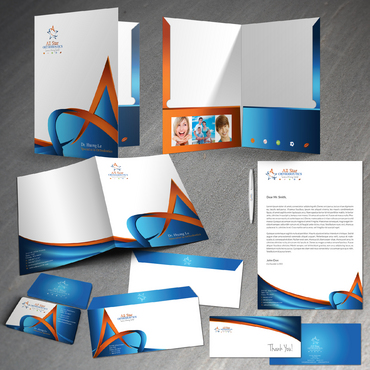 All Star Orthodontics Business Cards and Stationery  Draft # 414 by twenty2