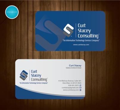 Curt Stacey Consulting, An Information Technology Services Company Business Cards and Stationery  Draft # 215 by aheadpoint