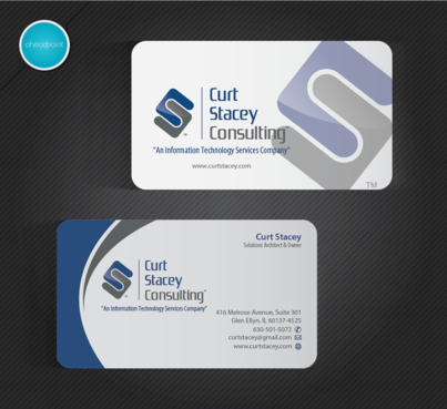 Curt Stacey Consulting, An Information Technology Services Company Business Cards and Stationery  Draft # 270 by aheadpoint