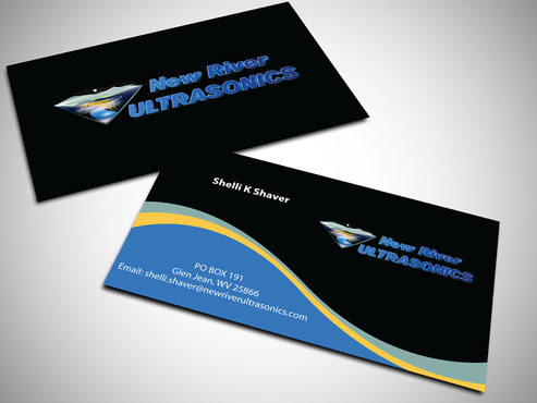 New River Ultrasonics Business Cards and Stationery  Draft # 131 by jpgart92