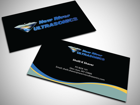 New River Ultrasonics Business Cards and Stationery  Draft # 134 by jpgart92