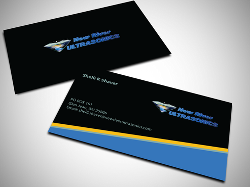 New River Ultrasonics Business Cards and Stationery  Draft # 138 by jpgart92