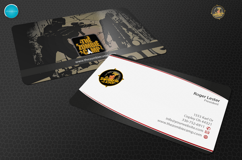 The Zombie Camp Business Cards and Stationery  Draft # 225 by aheadpoint