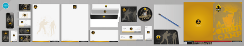 The Zombie Camp Business Cards and Stationery  Draft # 236 by aheadpoint
