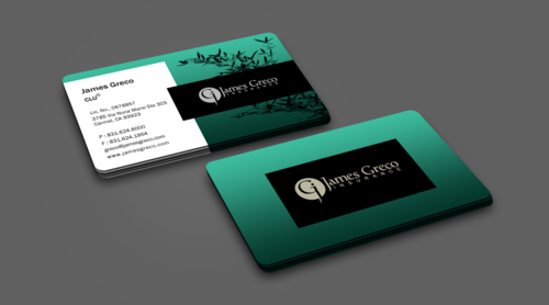 Business card, letterhead, envelop, and email signature for James Greco Insurance