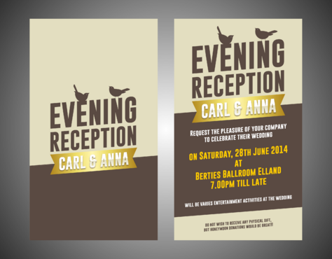 Evening Reception Marketing collateral  Draft # 11 by Kaiza