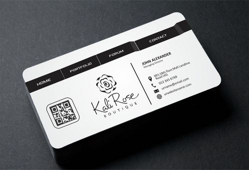 Kali Rose Boutique Business Cards and Stationery  Draft # 182 by DesignBlast