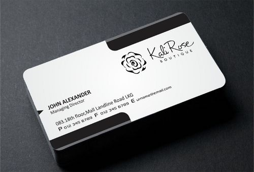 Kali Rose Boutique Business Cards and Stationery  Draft # 184 by DesignBlast