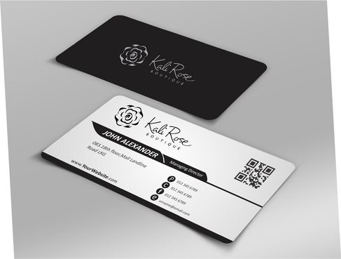Kali Rose Boutique Business Cards and Stationery  Draft # 186 by DesignBlast