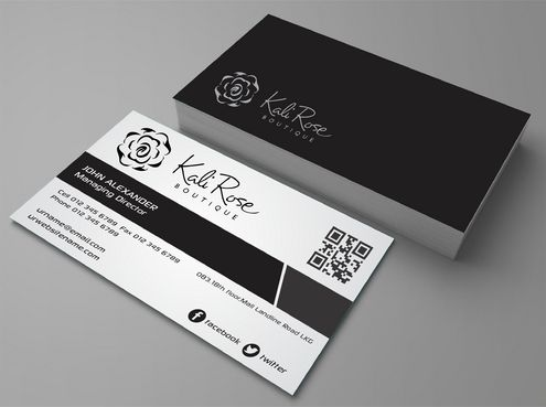 Kali Rose Boutique Business Cards and Stationery  Draft # 189 by DesignBlast