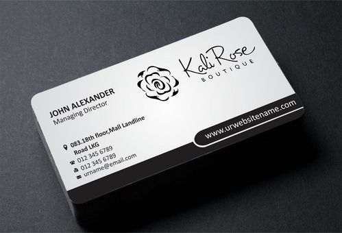 Kali Rose Boutique Business Cards and Stationery  Draft # 191 by DesignBlast