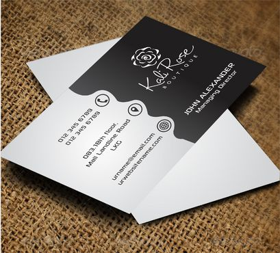Kali Rose Boutique Business Cards and Stationery  Draft # 192 by DesignBlast