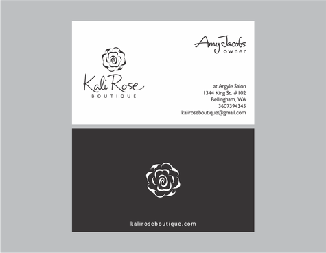Kali Rose Boutique Business Cards and Stationery  Draft # 201 by kanyakitri