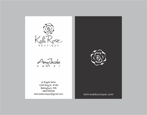 Kali Rose Boutique Business Cards and Stationery  Draft # 202 by kanyakitri